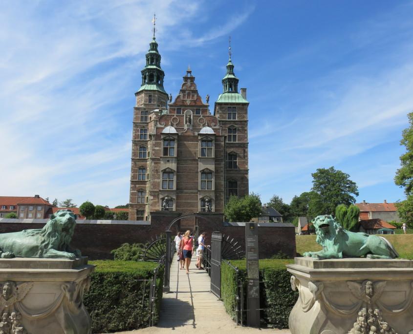 Rosenborg Castle seen from Kongens Have, Copenhagen, Denmark