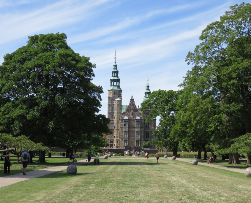 Rosenborg Castle seen from Kongens Have, Copenhagen, Denmark