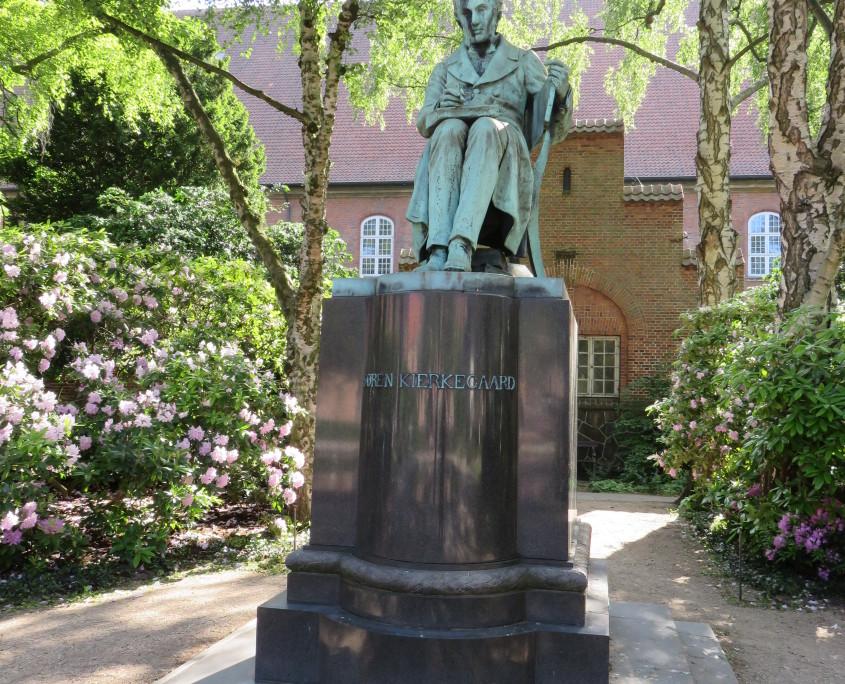 Søren Kierkegaard in Bibliotekshaven, Copenhagen, Denmark