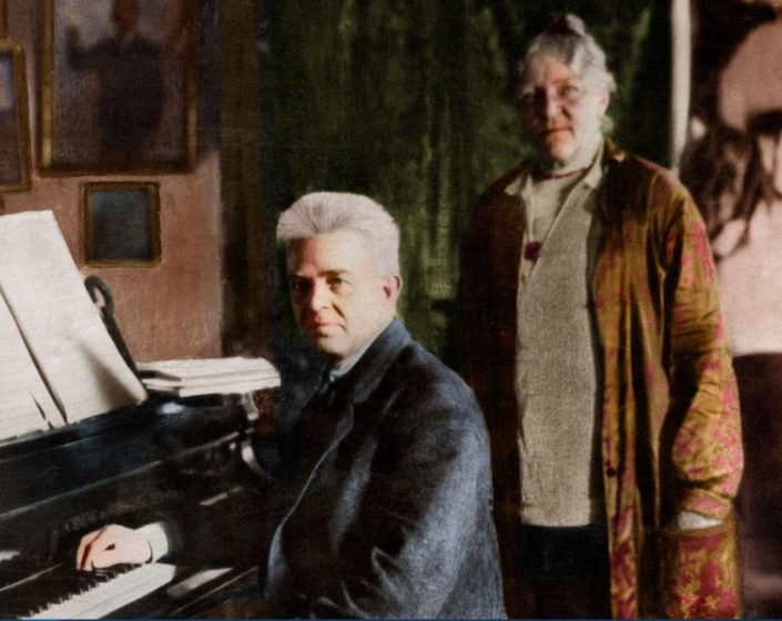 The Danish composer Carl Nielsen with his wife Anne Marie