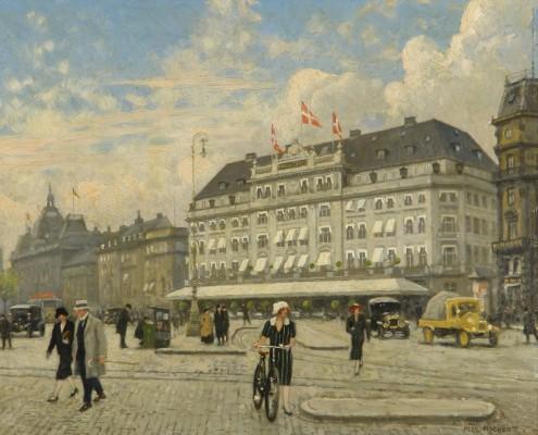 Paul Fischer. Kgs. Nytorv toward Hotel D'Angleterre