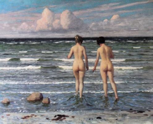 Paul Fischer. Bathing girls
