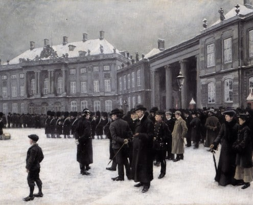 Paul Fischer. Changing of the Guards at Amalienborg Palace