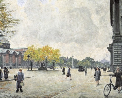 Paul Fischer. Dantes Plads and Glyptoteket, Copenhagen