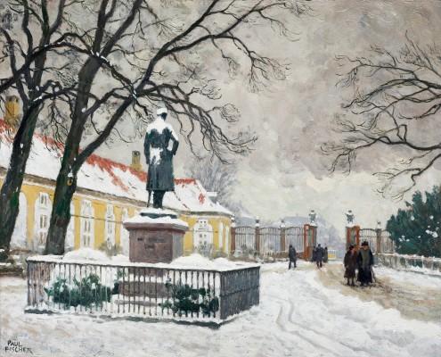 Paul Fischer. Entrance to Frederiksberg Have, Copenhagen
