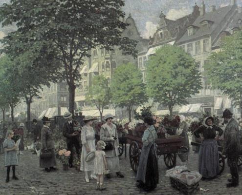 Paul Fischer. Højbro Plads, Copenhagen