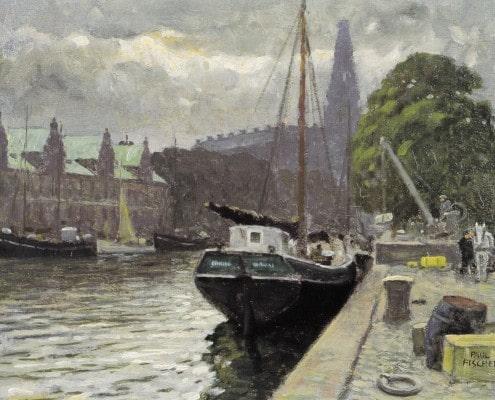 Paul Fischer. Holmens Kanal, Copenhagen