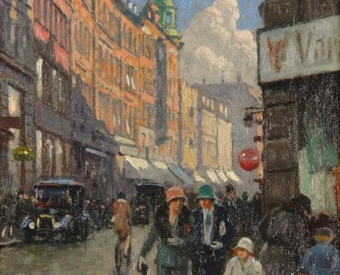 Paul Fischer. Købmagergade, Copenhagen