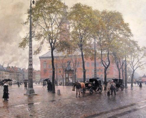 Paul Fischer. Rådhuspladsen, Copenhagen