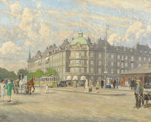 Paul Fischer. Summer day in Oslo Place