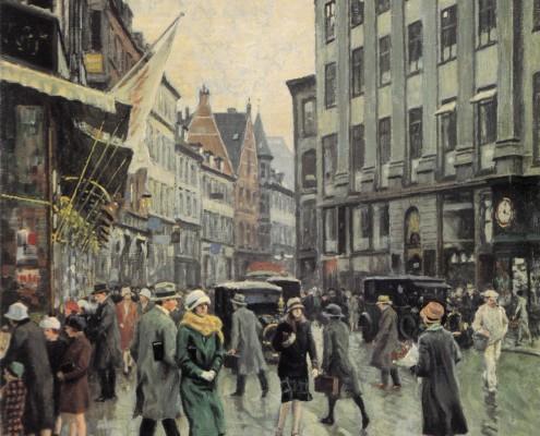 Paul Fischer. Vimmelskaftet, Copenhagen