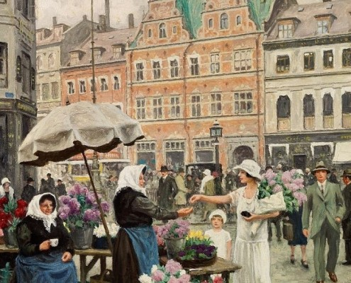 Poul Fischer. From Højbro Plads and Amagertorv, Copenhagen