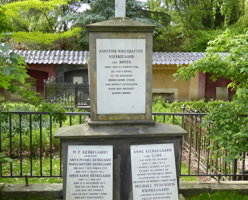 Tombstones of Søren Kierkegaard and family, Assistens Kirkegård, Copenhagen