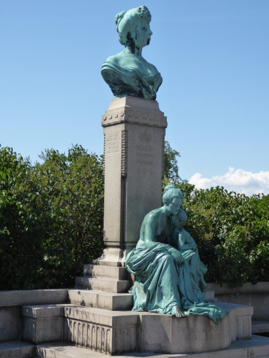 Monument to Princess Marie of Orleans - wife of Danish Prince Valdemar at Langelinie, Copenhagen, Denmark