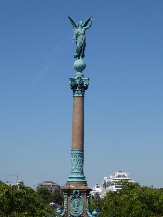 The Huitfeldt column at Langelinie, Copenhagen, Denmark