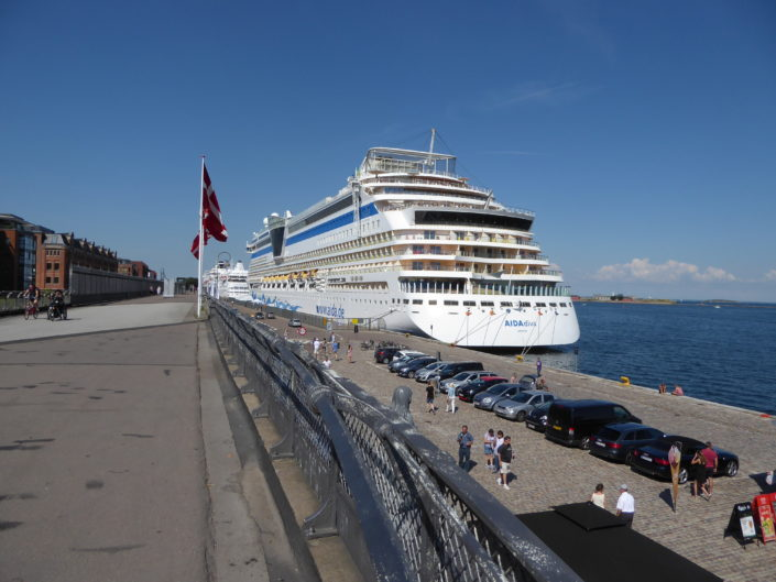 Cruise ship at Langelinie Pier, Copenhagen, Denmark