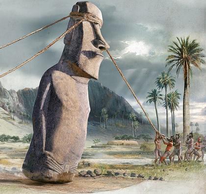Rapa Nui (Easter Island) - moving statues