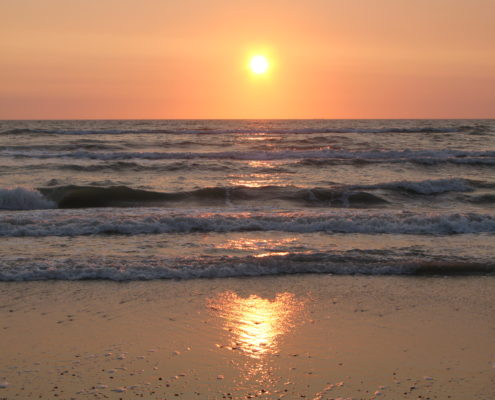 sunset at the beach in Jutland