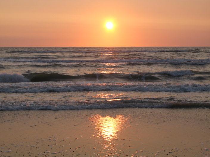 sunset at the beach in Jutland
