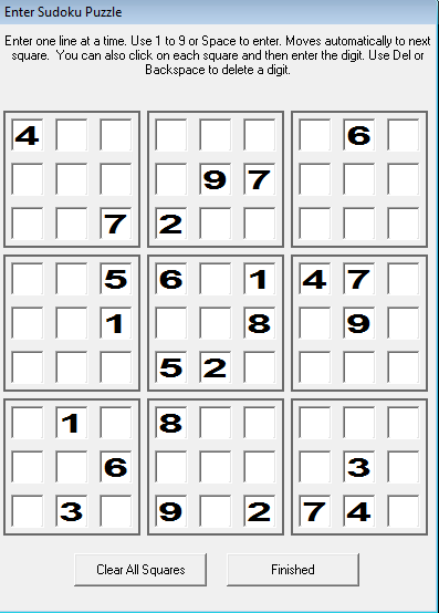 Daily Sudoku - Solve online and print @ Daily Sudoku